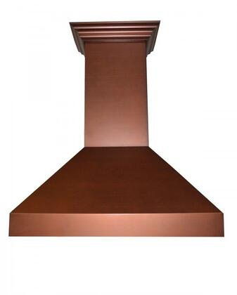 """Z Line Designer Series Copper Wall Range Hood with 6"""" Outlet, 7 Layer Copper Finish, 2 LED Lights, Speed/Timer Panel with LC, 4 Speeds, in"""