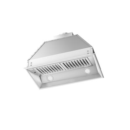 Z Line ZL695 Range Hood Insert with CFM High Performance Dual Motor, 4 Speed Levels, Directional Lights and Control Panel with LCD in Brushed Stainless Steel