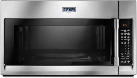 """Maytag MMV6190Fx 19"""" Microwave with 1.9 cu. ft. Capacity, 400 CFM, Convection Cooking, Sensor Cooking Mode, Stainless Steel Cavity, Wide Glide Tray, in"""