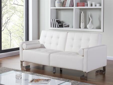 """Casabianca Spezia Collection TC-5518 73"""" Sofa Bed with XX Upholstery, Tufted Cushions and Stainless Steel Legs in"""