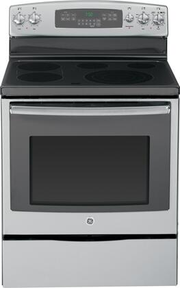 "GE JB750SFSS 30"" Electric Freestanding Range with Smoothtop Cooktop, 5.3 cu. ft. Primary Oven Capacity, Storage in Stainless Steel"
