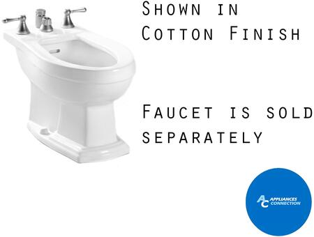 Toto BT784B Clayton Series Four-Hole Bidet with Vitreous China Construction and Integral Overflow