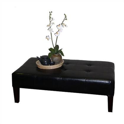 4D Concepts 55007X Large Faux Leather Coffee Table