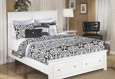 Signature Design by Ashley B139-STBED Bostwick Shoals Collection Size Storage Platform Bed: White
