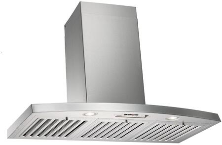 """Kobe RA28 Wall Mount Hood with 6"""" Exhaust Duct, Three Speed Controls, LED Lights, Quiet Mode, Powerful Motor: Stainless Steel"""