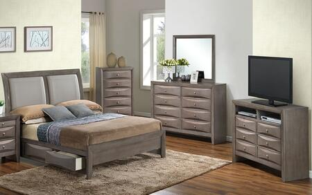 Glory Furniture G1505DDQSB2CHDMTV2 G1505 Queen Bedroom Sets