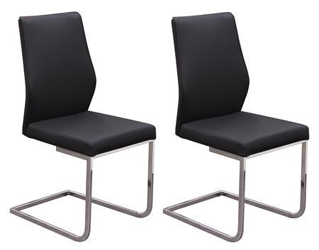 Diamond Sofa VERONADCBL Verona Series Contemporary Metal Frame Dining Room Chair
