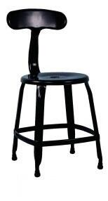 Chintaly 8036SCBLK 8036 Series Residential Not Upholstered Bar Stool