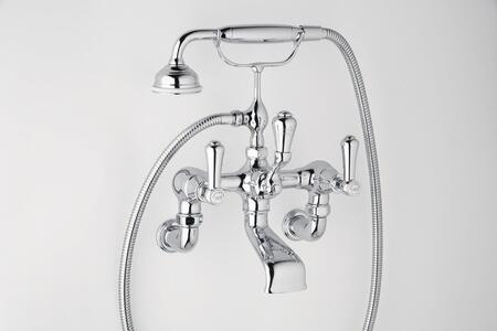 Rohl U.3006LSP/1- Georgian Era Series Exposed Wall Mounted Bathtub Filler with Handshower and Lever Handles: