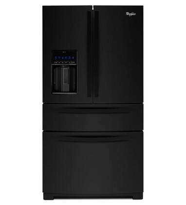"Whirlpool WRX988SIBBX 36"" French Door Refrigerator with 26 cu. ft. Capacity, Double Freezer Storage, Adjustable Gallon Door Bins, External Filtered Water and Ice Dispenser, and LED Lighting:"