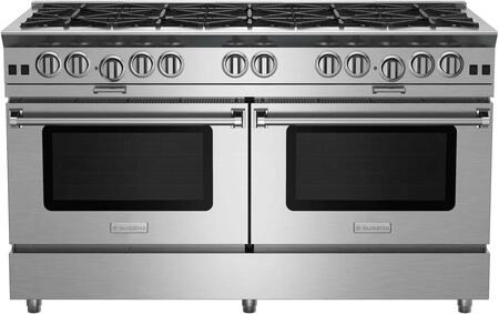 "BlueStar BSP6010 60"" Platinum Series Freestanding Range with Ten Burners, Interchangeable Griddle Charbroiler, Full Motion Grates, Efficient PowR Oven and 15000 BTU Infrared Broiler"