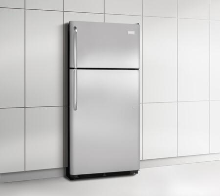 Frigidaire FFHT1826PS Freestanding Top Freezer Refrigerator with 18.3 cu. ft. Total Capacity 2 Glass Shelves 4.1 cu. ft. Freezer Capacity