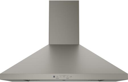 "GE Profile JVW5301 30"" Wall-Mount Pyramid Chimney Hood with 350 CFM Venting System with Boost, Electronic Backlit Controls, Dual Halogen Cooktop Light, Night Light and Convertible Venting Options in"