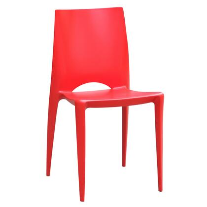 Fine Mod Imports FMI2015RED modern/contemporary Not Upholstered ABS Frame Dining Room Chair
