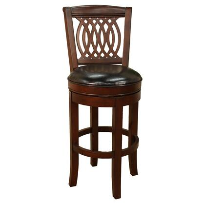 American Heritage 124744ESL151 Atwood Series Residential Leather Upholstered Bar Stool