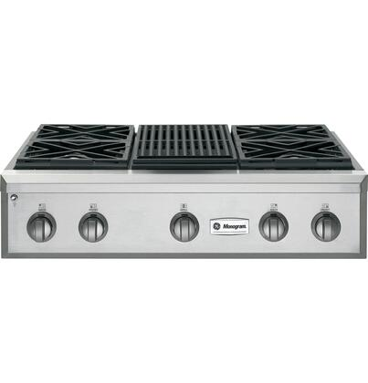 GE Monogram ZGU364LRPSS  Sealed Burner Style Cooktop, in Stainless Steel
