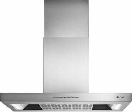 Jenn-Air JXI8736DS Low Profile Canopy Island Hood with Auto Sense, Dishwasher Safe Metal Filter, LED Lighting, 3 Fan Speed Settings, Sleep Mode, in Stainless Steel