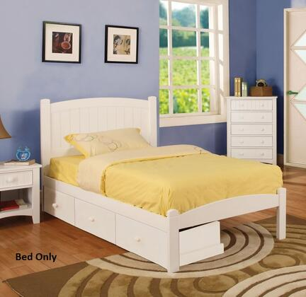 Furniture of America CM7902WHTBED Caren Series  Twin Size Bed