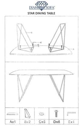Amazing Diamond Sofa Star Stardtwa 69 Inch X 32 Inch Rectangular Machost Co Dining Chair Design Ideas Machostcouk
