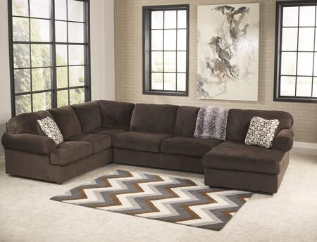 Milo Italia MI-9813DTMP Kianna Sectional Sofa with Right Arm Facing Corner Chaise, Armless Loveseat and Left Arm Facing Sofa in