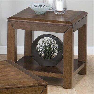 Jofran 7363 Wenatchee Falls Series Transitional Wood and Metal  End Table