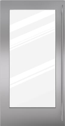 Sub-Zero 703022 Glass Door Panel with Tubular Handle for BI-36RG, in Stainless Steel