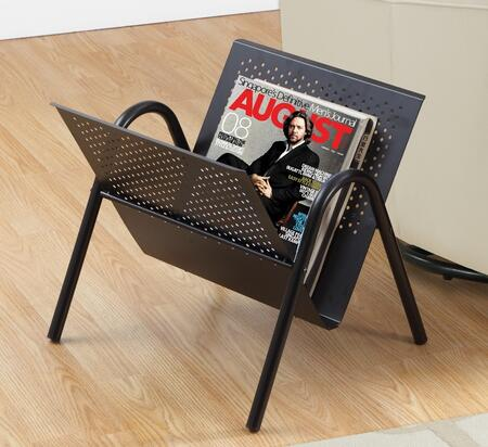 "Monarch I 20X 16"" Magazine Rack with Metal Construction, Modern Style  and 4 Legs"