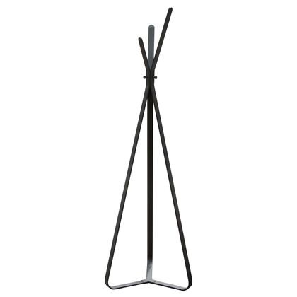 """Diamond Sofa Apex Collection 74"""" Tall Accent Tree with 3 Aluminum Hooks, Architectural Design, Metal Construction and Powder Coated Steel in Matte"""