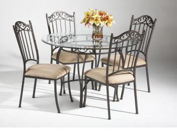 Chintaly 0710DT5PIECESET Chintaly Dining Room Sets
