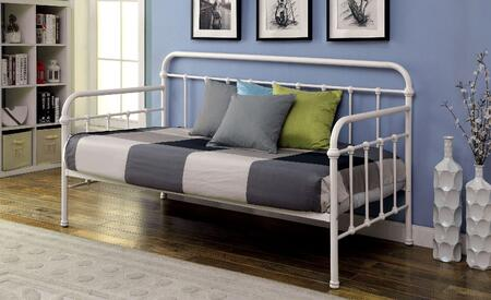 Furniture of America Claremont Collection Platform Daybed with Spindle Guardrails, Metal Construction and Powder Coated Finish in