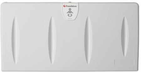 Foundations Standard Collection 100-XX Changing Station with Surface Mount, Easy-to-Clean and Safety Strap in Light Gray