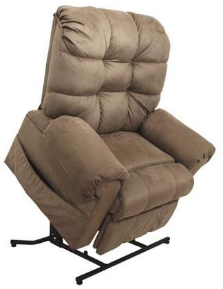 """Catnapper Omni Collection 4827 45"""" Power Lift Chaise Recliner with Plush Padded Rolled Arms, Full Lay-Out Comfort, Steel Seat Box, Plush Pad Rolled Arms and Woven Velvet Upholstery"""
