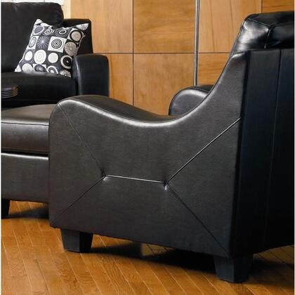 Coaster 502273 Java Series Bonded Leather  in Black