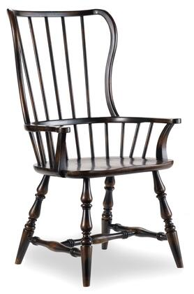 Hooker Furniture 3005-753 Sanctuary Series Casual-Style Dining Room Spindle Chair (Sold in 2 Chairs per Order/Priced Individually), Ebony