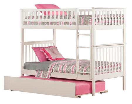 Atlantic Furniture AB5615 Woodland Bunk Bed Twin Over Twin With Urban Trundle Bed