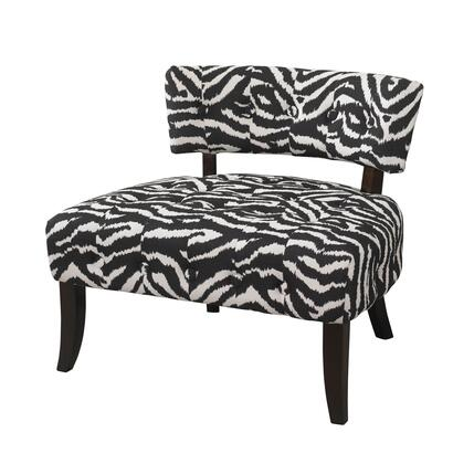 Powell 502902 Armless Fabric Wood Frame Accent Chair