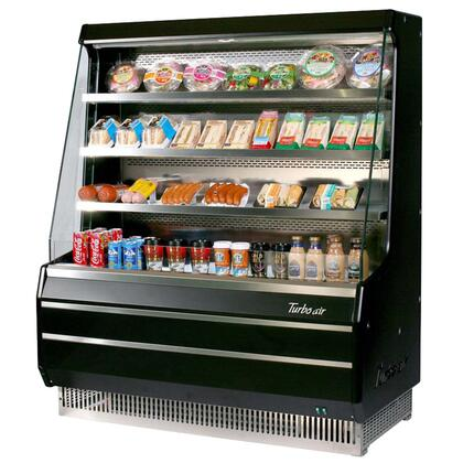 Turbo Air TOMMM Medium Display Merchandiser with Efficient Refrigeration System, Anti-Rust Coating, Back-Guard and Fluorescent Lighting: Black Ext. and Int.