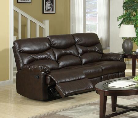 Myco Furniture Ge309sbr Geneva Series Bonded Leather Sofa