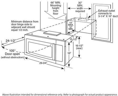 Ge Profile Pvm9215dkww Over The Range 2 1 Cu Ft Capacity