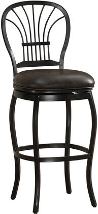 American Heritage 11110X Harper Series Stool with Rustic Pewter Metal Frame and Bonded Leather Cushion in Tobacco
