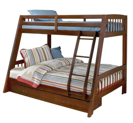 Hillsdale Furniture 16BB Rockdale Twin Over Full Size Bunk Bed with Under-Bed storage Drawers, Ladder, Pine and Plywood Construction in