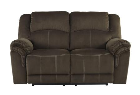 Milo Italia MI569322COFF Madyson Series Fabric Reclining with Metal Frame Loveseat