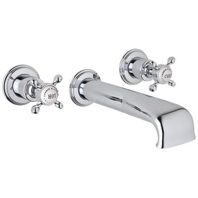 Rohl U.3581X- Perrin and Rowe Collection 3-Hole Concealed Wall Tub Set, Cross Handles: