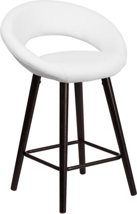 Flash Furniture CH152551WHVYGG Kelsey Series Residential Vinyl Upholstered Bar Stool