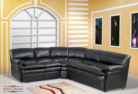 Meridian 645BL  Stationary Bonded Leather Sofa