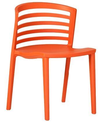 ITALMODERN L3602ORG Venezia Series Modern Not Upholstered Plastic Frame Dining Room Chair