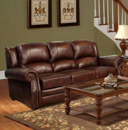 Novo Home 42803S Montana Series Stationary Leather Sofa