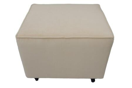 Fun Furnishings 403XX Comfy Cozy Ottoman Velvet
