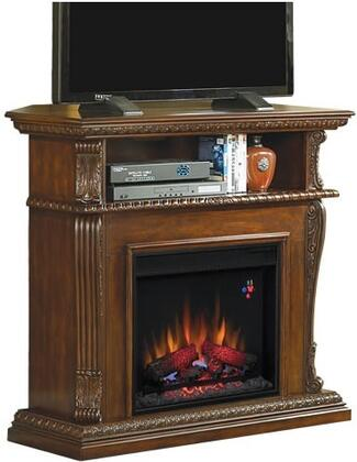 """Classic Flame 23DE1447 Corinth 23"""" Electric Fireplace with 100% Energy Efficient, Open Shelf, Realistic Flame Effect, Finest Hardwoods and Wood Veneers in"""