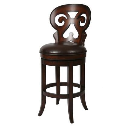Pastel Furniture QLHR219 Hermosa Bar Height Swivel Barstool in Brown